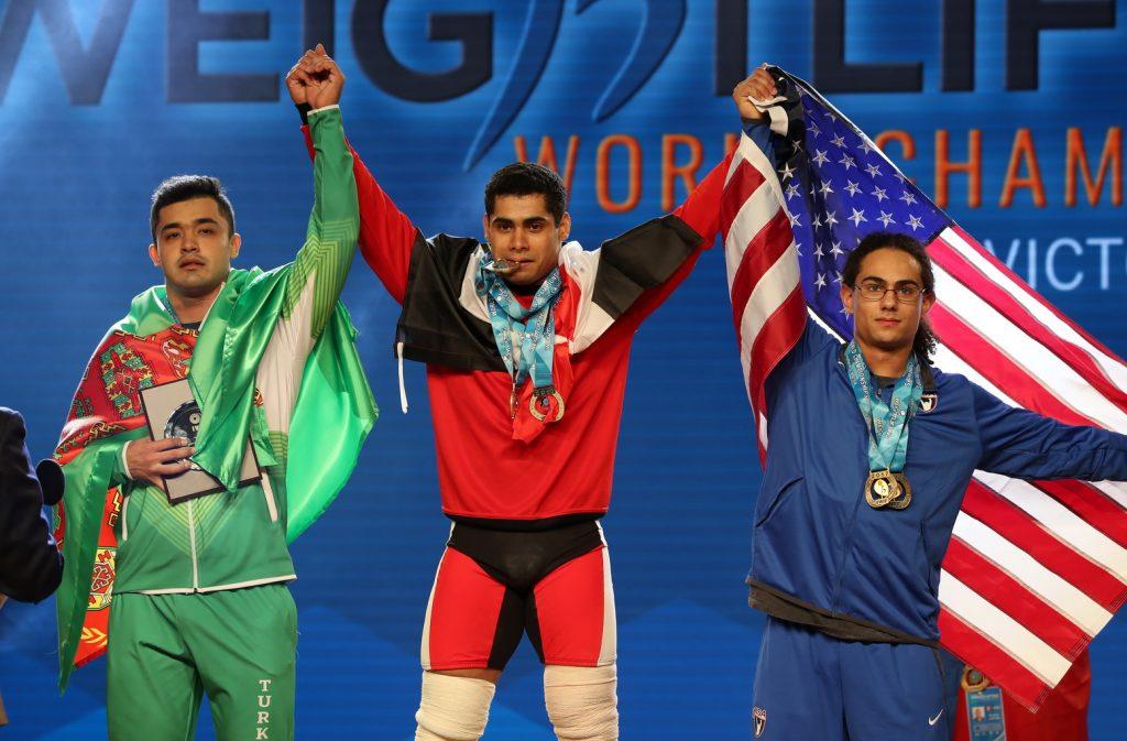 Тяжелоатлет изсоедененных штатов завоевал награду чемпионата мира впервый раз с1997 года