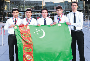 Pupils from Turkmenistan won three bronze medals at the International Chemistry Olympiad in Paris