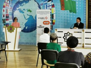 Celebration of the winners of the French Olympiad took place in Ashgabat