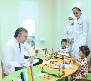 The President of Turkmenistan visited the Scientific and Clinical Center for Maternal and Child Health Protection