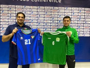 Turkmenistan national football team to play with Kuwait in green away kits