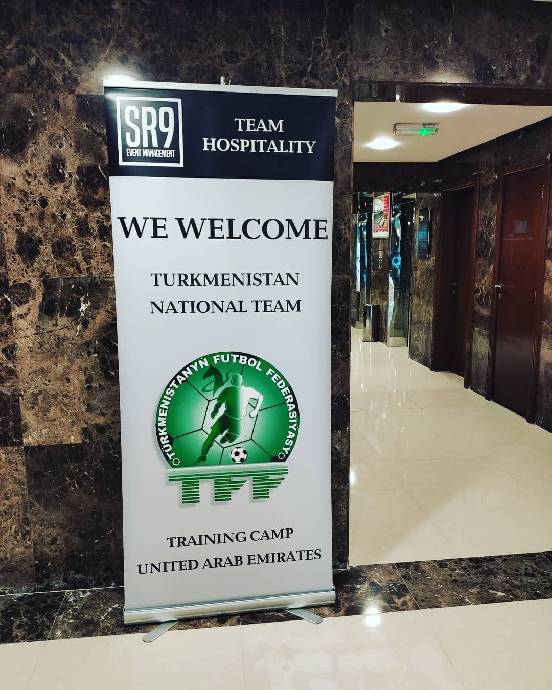 Turkmenistan national football team arrives in Dubai for