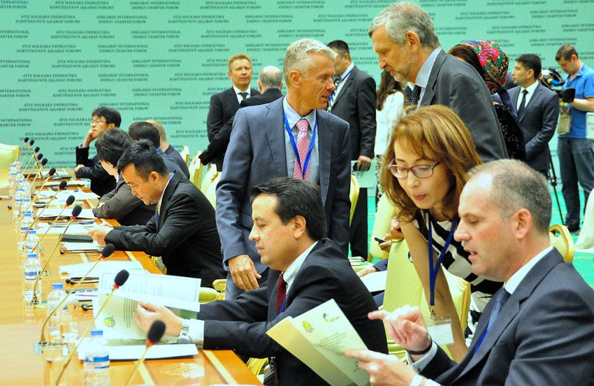 ВТуркменистане закончился международный форум Конференции поЭнергетической хартии